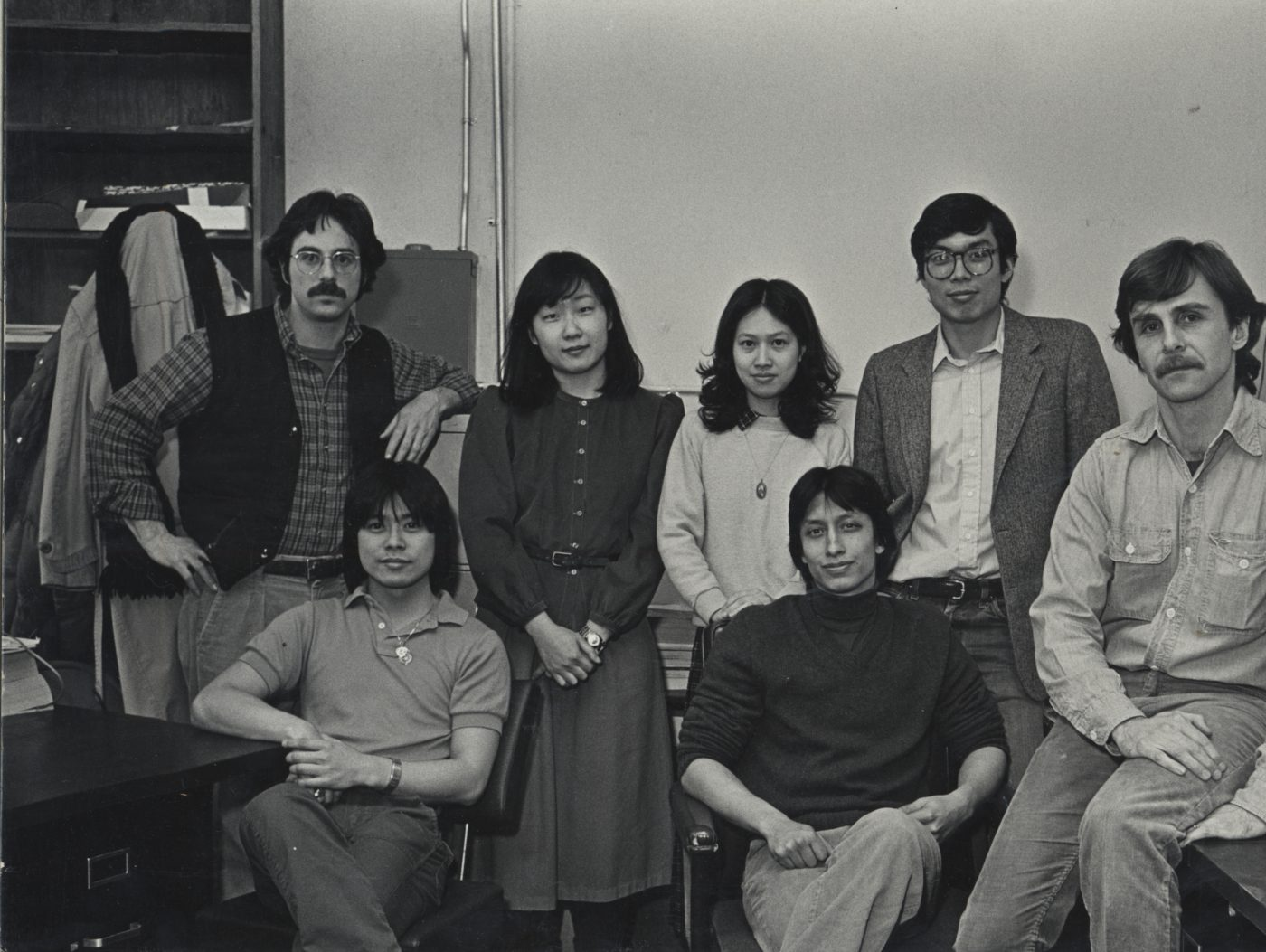 03 & 04 June 2019 Posted. Paul Calhoun is the farthest on the right, Bud Glick is on the far left in the photograph, Museum of Chinese in America (MOCA) Institutional Collection. Paul Calhoun位于照片的最右边,Bud Glick位于照片的最左边,美国华人博物馆(MOCA)机构档案