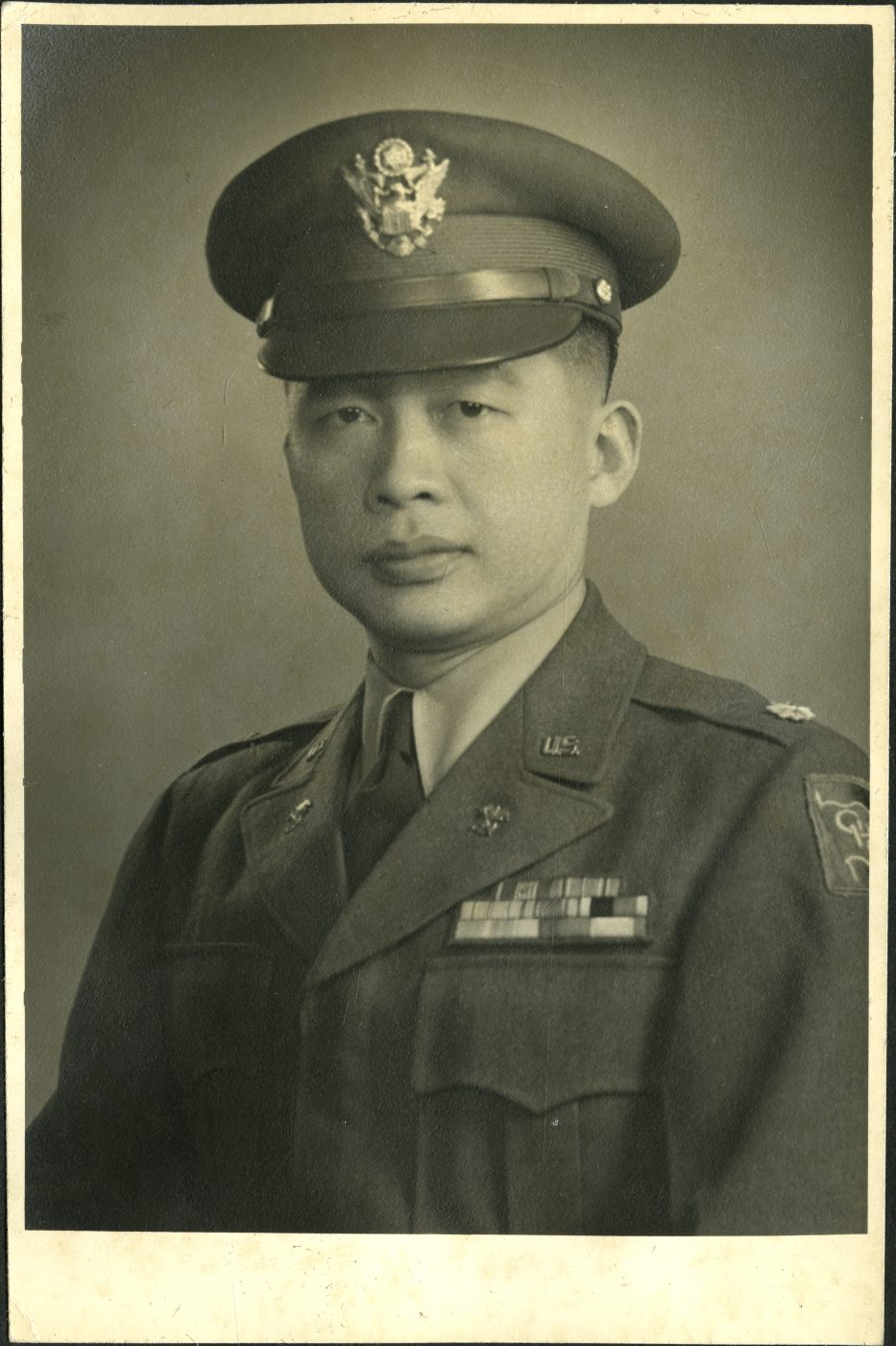 21 October 2019 Posted. Ernest Eng in uniform; Courtesy of Eng Family, Museum of Chinese in America (MOCA) collection. 身着军装的Ernest Eng;Eng家捐赠, 美国华人博物馆(MOCA)馆藏