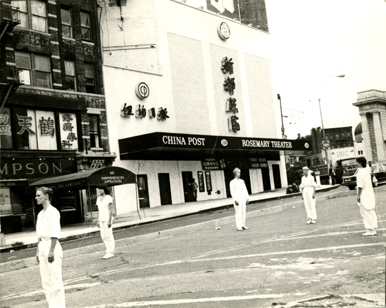 09 July 2019 Posted. Rosemary Theater, Photograph taken by Emile Bocian, ca. 1975-1986, Museum of Chinese in America (MOCA) Collection. 新都戏院,包信摄影,大约1975-1986年,美国华人博物馆(MOCA)馆藏