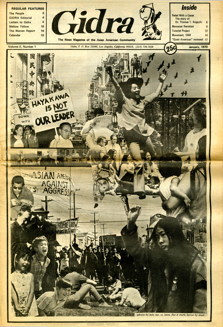 23 July 2019 Posted. Gidra, The News Magazine of the Asian American Community, Vol II, Number 1, January 1970, Museum of Chinese in America (MOCA) Newspaper Collection. Gidra,亚裔美国社区的新闻期刊,第2卷,1970年1月,美国华人博物馆(MOCA)馆藏报纸