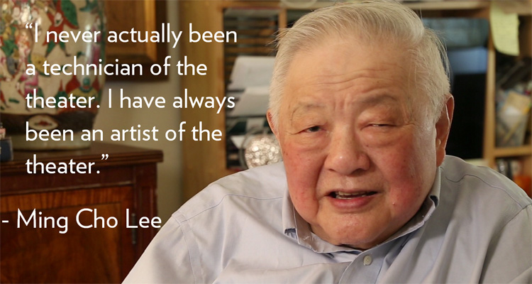 08 August 2019 Posted. Ming Cho Lee was interviewed by MOCA for the Journey Wall Oral History Project, Museum of Chinese in America (MOCA) Institutional Archives. 李明觉在MOCA里城墙口述历史项目中被采访,美国华人博物馆(MOCA)机构档案