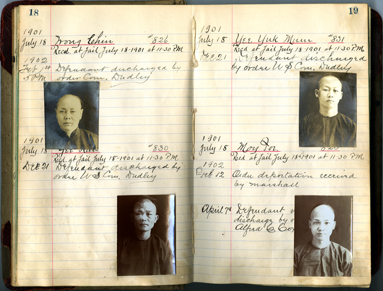 17 September 2019 Posted. Jail Records, 1901-1903, Courtesy of the Moriah Historical Society, Museum of Chinese in America (MOCA) Collection. 1901-1903年,监狱记录,原件保存在莫里亚历史学会,美国华人博物馆(MOCA)数字化馆藏