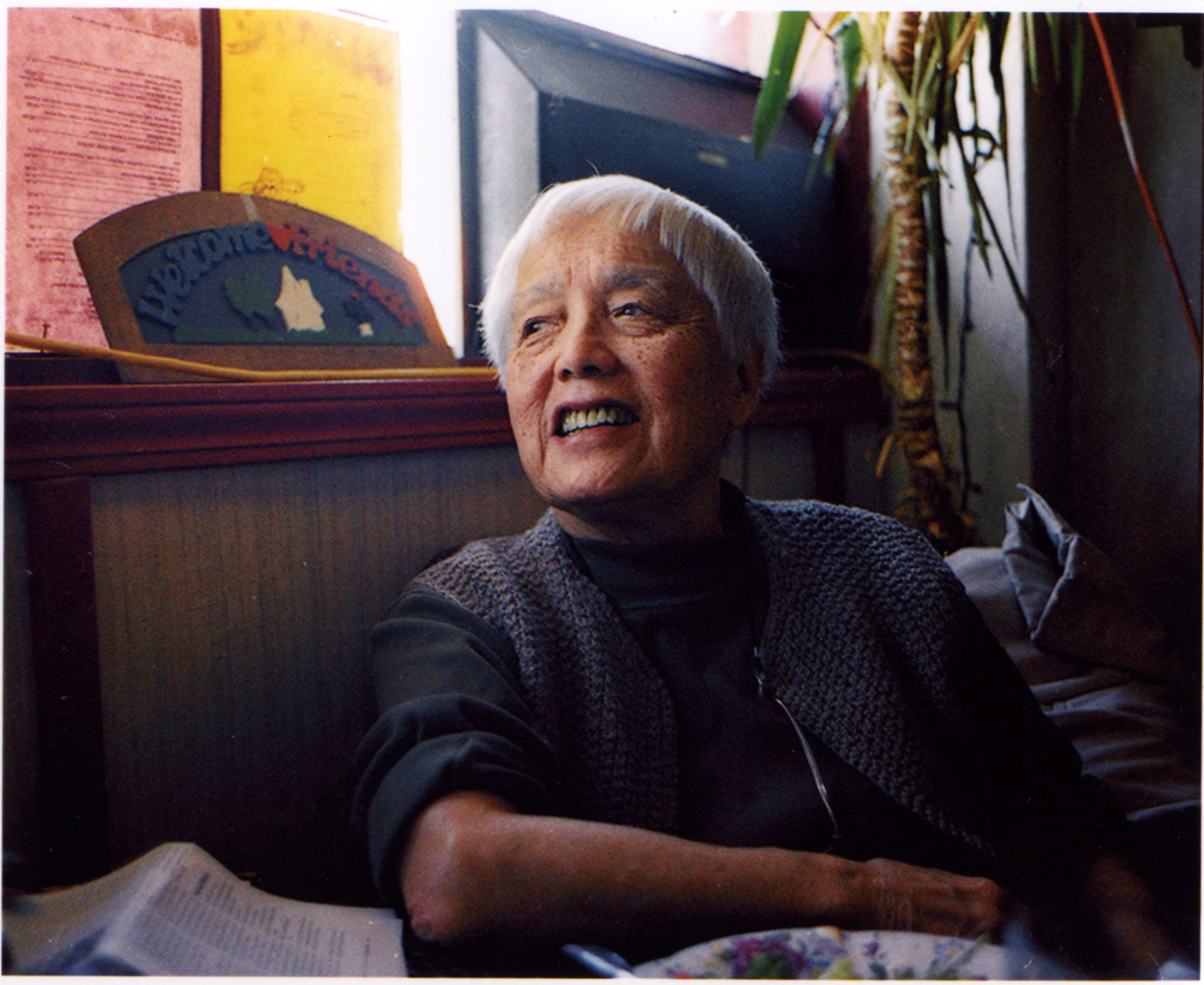 "19 August 2019 Posted. Grace Lee Boggs, Courtesy of the Public Affairs Television, Museum of Chinese in America (MOCA) Core Exhibition ""With A Single Step"". Grace Lee Boggs,由Public Affairs Television提供,美国华人博物馆(MOCA)核心展览《千里之行》图片"