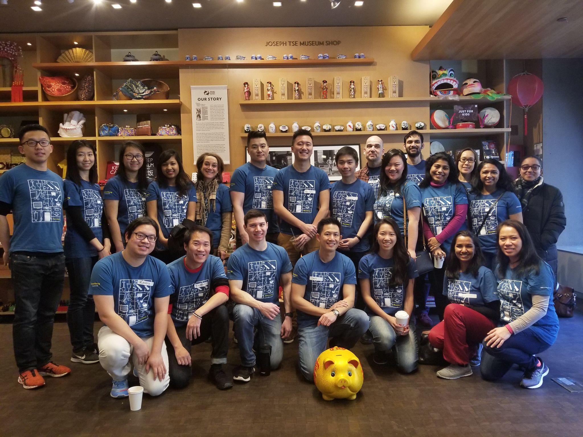 Bloomberg Volunteers at MOCA's Lunar New Year Family Festival