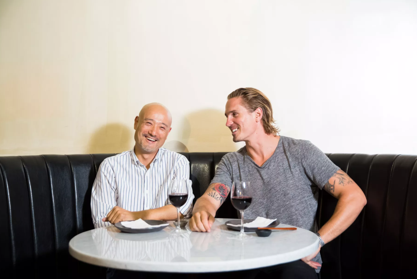 Jeff Lam and Eddy Buckingham, owners of Chinese Tuxedo and the Tyger. Photo by Emma Cleary.