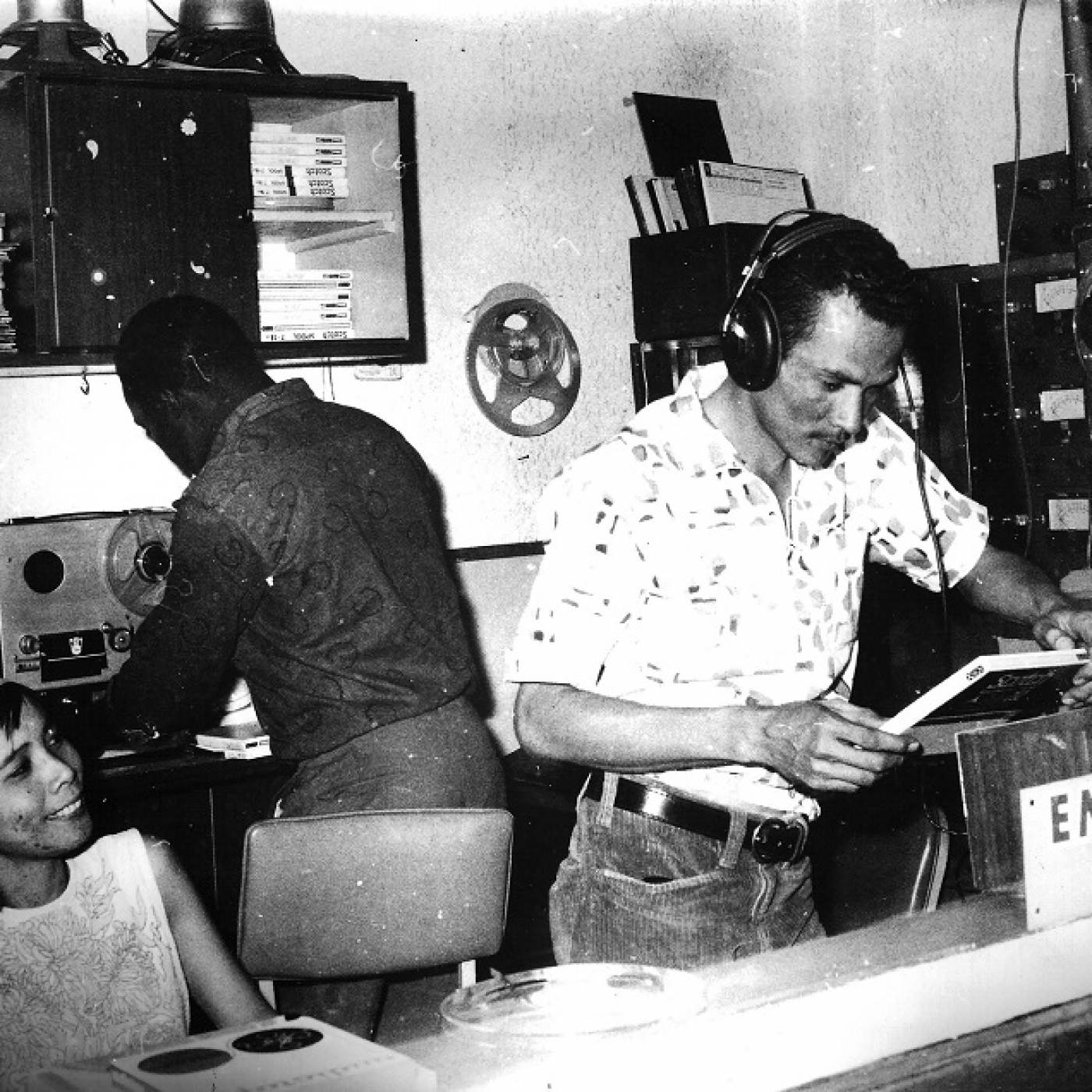 Patricia and Vincent Chin in Studio 17, 17 North Parade, Kingston, ca. 1968